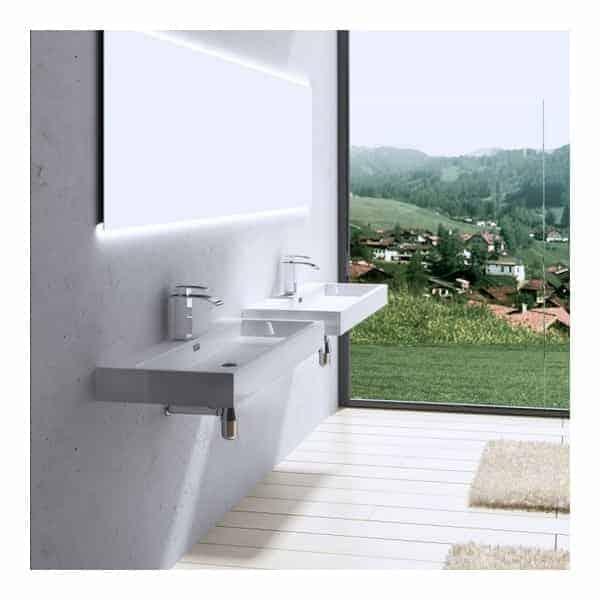 Badkamerkast zonder wastafel home design idee n en meubilair inspiraties - Meubilair vormgeving van de badkamer dubbele wastafel ...
