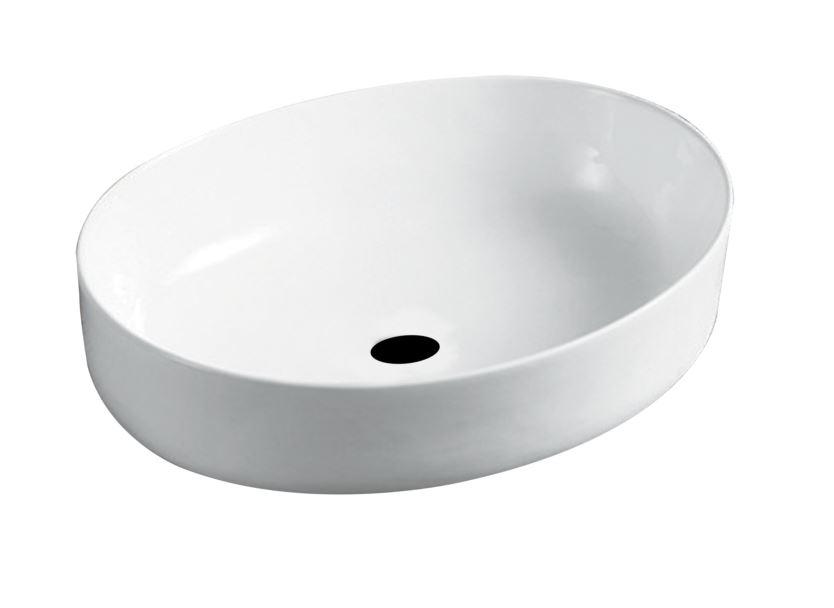Wastafel ovaal wit yssel sanitairkiezer