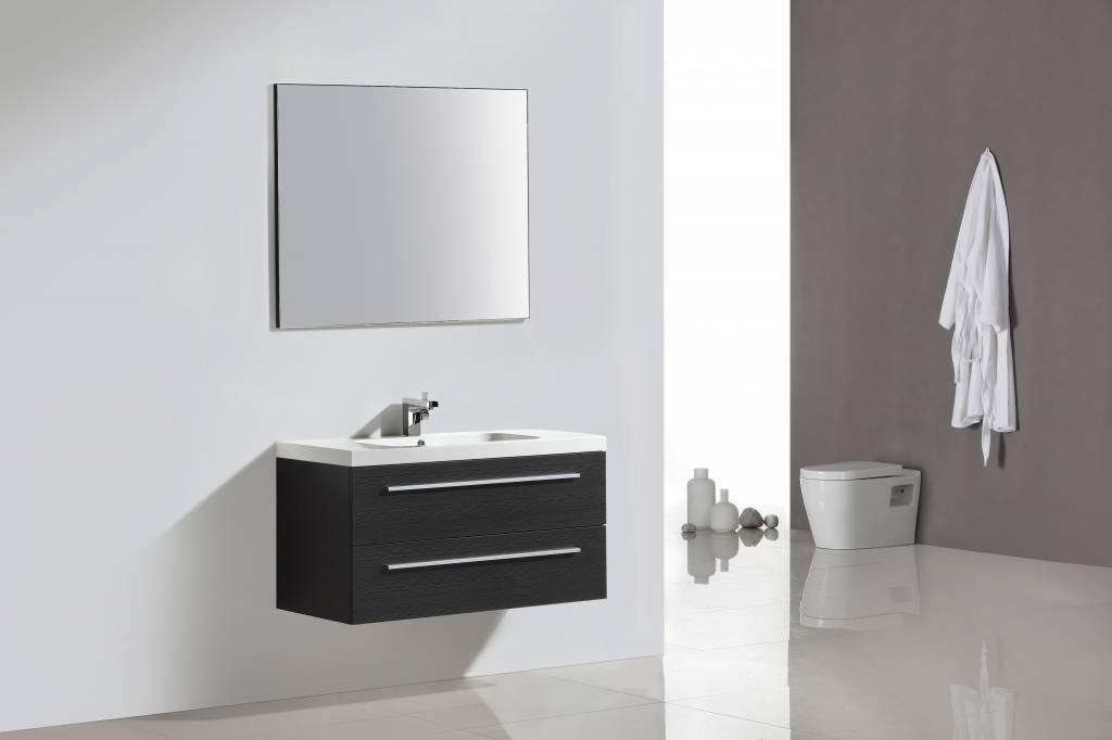 Badmeubel lilium rn silver grey set met spiegel sanitairkiezer