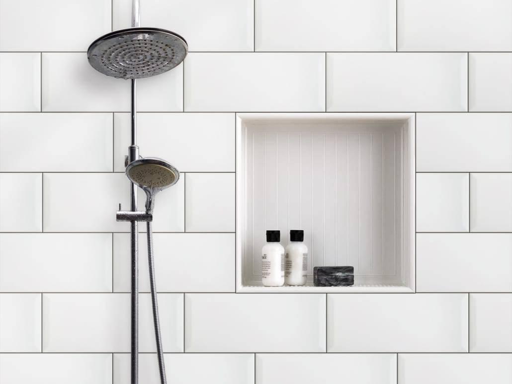 Inbouwnis in de badkamer